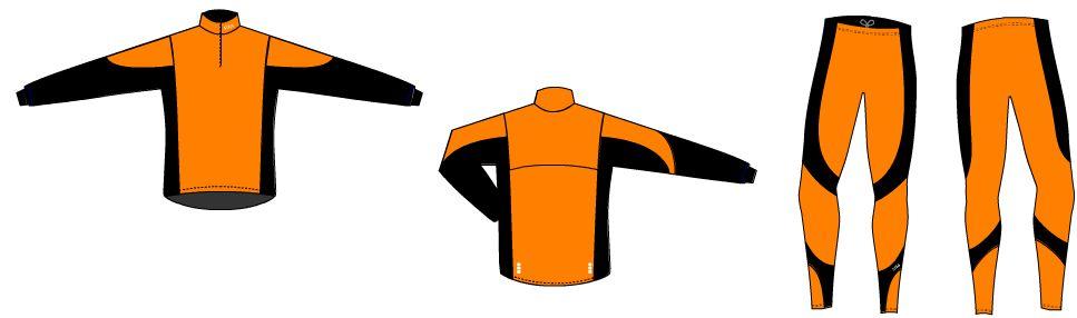 černo-oranžová kombinace