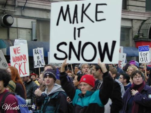 demonstrace za sníh